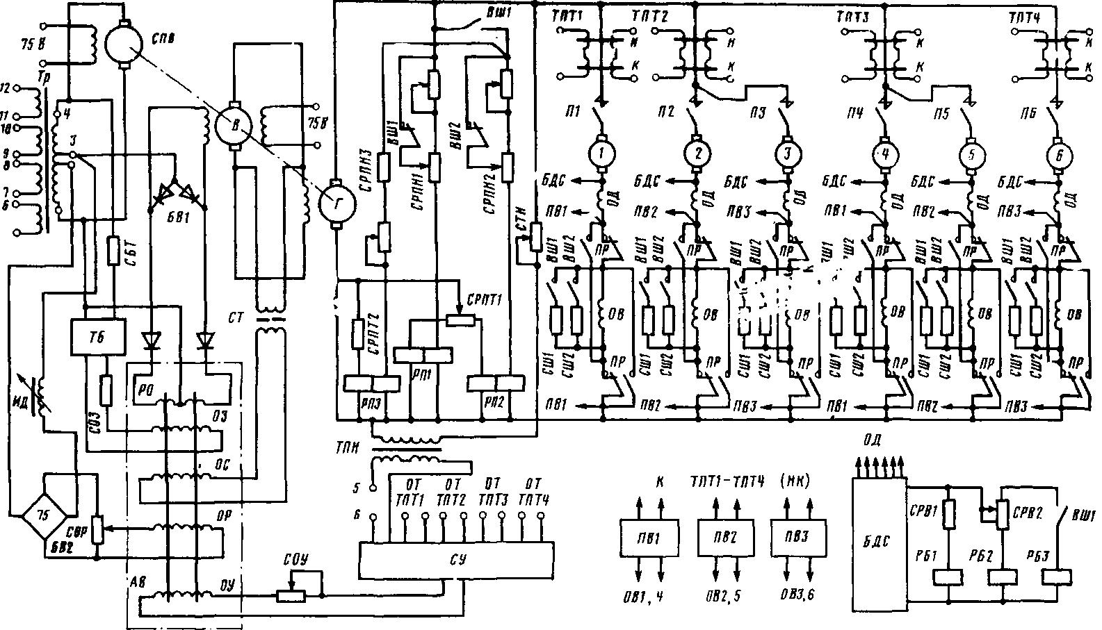 схема тягового реле