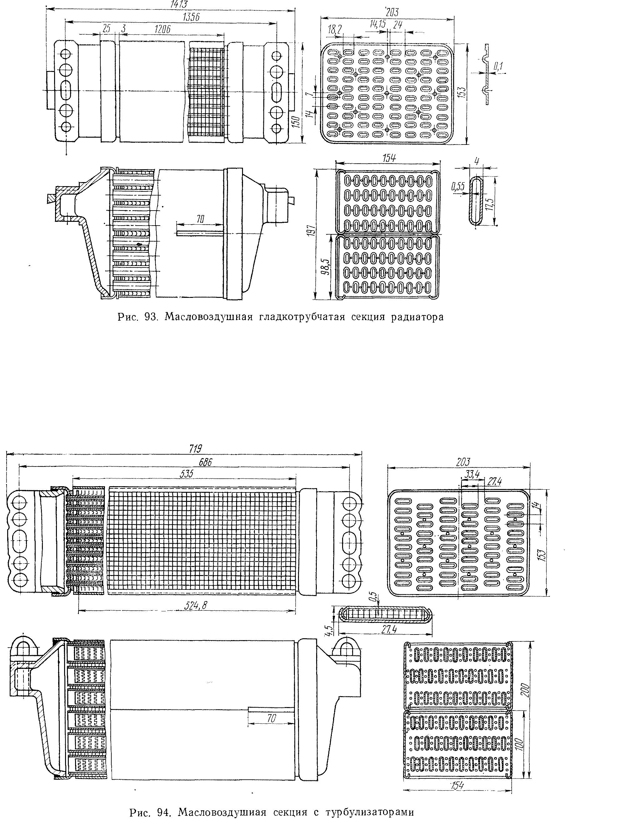 Секции радиатора тепловоза на металлолом